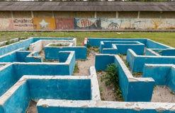 Scuola africana del villaggio a Zanzibar Immagini Stock Libere da Diritti