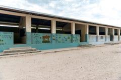 Scuola africana del villaggio a Zanzibar Fotografia Stock