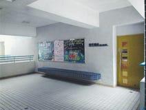 Scuola Corridoio con la gente vuota Fotografia Stock Libera da Diritti