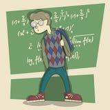 Scuola del nerd illustrazione di stock