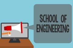 Scuola del testo di scrittura di parola di ingegneria Il concetto di affari affinchè l'istituto universitario studi la comunicazi Immagini Stock