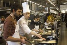 Scuola della cucina in Italia Immagini Stock