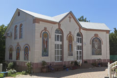 Scuola di domenica dei bambini alla chiesa santa di trasfigurazione nella città di Gelendzhik Fotografia Stock