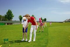 Scuola di golf Immagini Stock Libere da Diritti