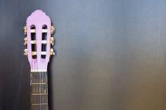 Scuola di musica della chitarra per i bambini Fotografia Stock