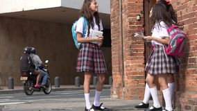 Scuola di Teen Girls At dello studente video d archivio