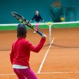 Scuola di tennis Fotografie Stock