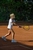 Scuola di tennis Fotografia Stock Libera da Diritti