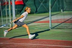 Scuola di tennis Fotografie Stock Libere da Diritti