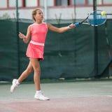 Scuola di tennis all'aperto Fotografia Stock