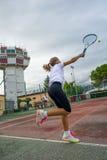 Scuola di tennis all'aperto Fotografie Stock Libere da Diritti