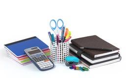 Scuola e articoli per ufficio fotografia stock libera da diritti
