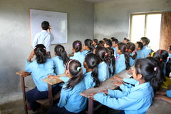 Scuola e bambini indiani Immagini Stock Libere da Diritti