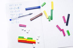Scuola elementare: esercizi aritmetici Immagine Stock Libera da Diritti
