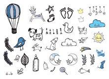 Scuola materna, illustrazioni del bambino Immagini Stock Libere da Diritti