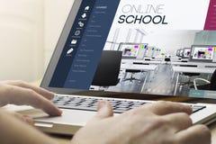 scuola online di informatica domestica Fotografia Stock