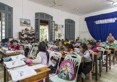 Scuola primaria nel prabang del luang, Laos Fotografia Stock Libera da Diritti