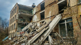 Scuola rovinata in Pripyat Fotografia Stock Libera da Diritti