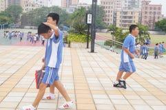 Scuola secondaria di Shenzhen Baoan Shajing Fotografia Stock