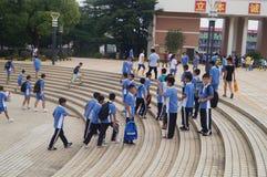 Scuola secondaria di Shenzhen Baoan Shajing Fotografie Stock Libere da Diritti