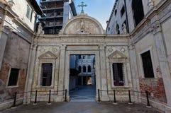 Scuola Stor di San Giovanni Evangelista, Venedig, Italien Royaltyfri Bild