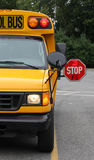 Scuola Van Stop Sign Fotografie Stock Libere da Diritti