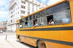 Scuolabus a Avana Fotografie Stock Libere da Diritti