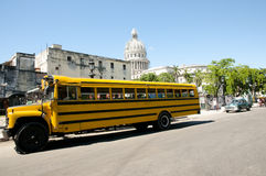Scuolabus - Avana - Cuba Fotografie Stock Libere da Diritti