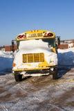 Scuolabus di inverno Fotografia Stock
