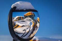 Scuolabus di inverno Fotografia Stock Libera da Diritti