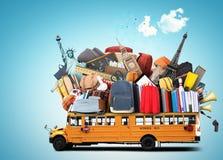 Scuolabus giallo Fotografie Stock