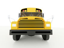 Scuolabus giallo isolato su bianco Immagini Stock
