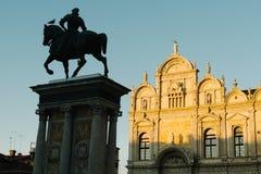 Scuolaen Stor di San Marco är en byggnad i Venedig, Italien royaltyfri bild