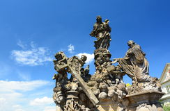 Scuplture detail. Charles Bridge. Prague. Czech Republic. Prague is the capital and largest city of the Czech Republic Stock Photography