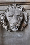 Scuplture of Head of Lion Royalty Free Stock Photography