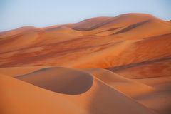 Scupted Sand Dunes at Dusk Stock Images