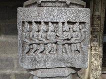 Scuptlure auf Stein, lonar See Lizenzfreies Stockbild