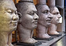 Scupture of 4 faces Royalty Free Stock Photography