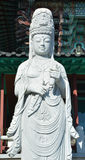 Scupture van Quan yin Boedha Royalty-vrije Stock Foto's