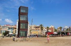 Scupure bij Barceloneta-Strand, Barcelona Royalty-vrije Stock Afbeelding