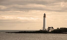 Free Scurbie Ness Lighthouse On The Headland,Montrose,Angus,Scotland,UK Royalty Free Stock Image - 174106336