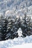Sécurité dans Davos Images libres de droits