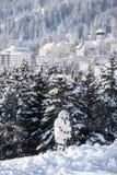 Sécurité dans Davos Photos libres de droits