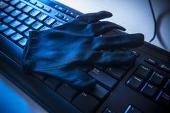 Sécurité et fraude d'Internet Images stock