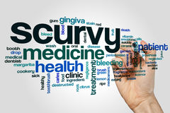Scurvy word cloud Royalty Free Stock Images