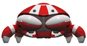 Scutter Robot Front Orthographic View. Cute scutter crab robot frontal orthographic view. Design inspired on Hawaii's 7/11 Royalty Free Stock Photo