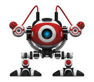 Scutter Webcrawler Robot Orthographic View Frontal. Webcrawler Robot frontal orthographic view. This is a search and searchability concept in webcrawling Stock Image