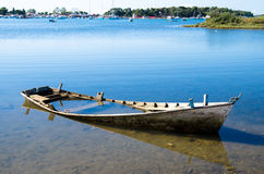 Scuttled boat Royalty Free Stock Photo