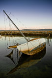 Scuttled sailing boat Stock Photo