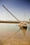 Scuttled sailing boat Stock Photography